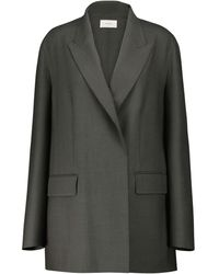 The Row Tristan Double-breasted Wool Blazer - Grey