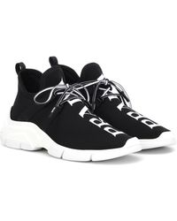Prada Sneakers aus Stretch-Strick - Schwarz