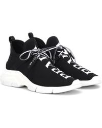 Prada Stretch-knit Sneakers - Black