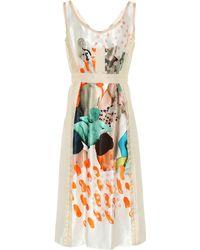 Marni - Printed Cupro Dress - Lyst