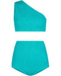Bottega Veneta One-Shoulder-Bikini - Grün