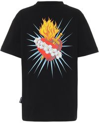 Palm Angels T-shirt Sacred Heart en coton - Noir