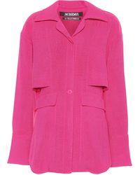Jacquemus Bluse La Chemise Monceau aus Canvas - Pink