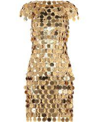 Paco Rabanne Embellished Dress - Metallic