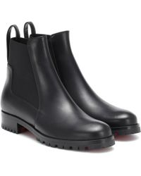 Christian Louboutin - Marchacroche Leather Ankle Boots - Lyst