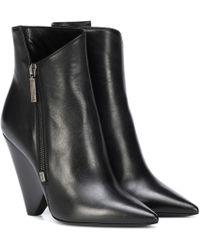 Saint Laurent - Niki 105 Leather Ankle Boots - Lyst
