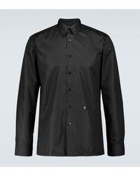 Raf Simons Straight-Fit Hemd mit Logo - Schwarz
