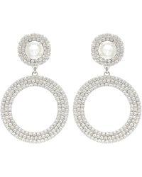 Alessandra Rich Crystal-embellished Earrings - Metallic