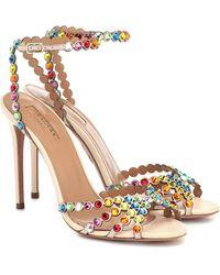 Aquazzura Tequila 105 Embellished Sandals - Multicolour