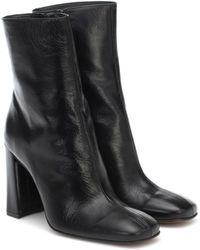 BY FAR Ankle Boots Elliot aus Leder - Schwarz