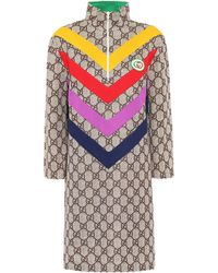 Gucci GG Supreme-jacquard Rainbow-appliqué Dress - Multicolour