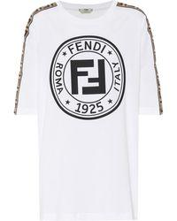 Fendi Oversized Cotton Jersey T-shirt - White