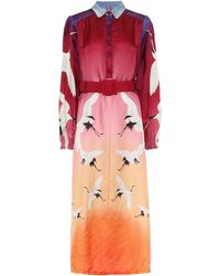 F.R.S For Restless Sleepers Sterope Printed Twill Midi Dress - Multicolor