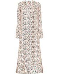 Marni Floral Silk Midi Dress - White