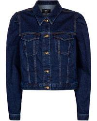 7 For All Mankind Chaqueta Amore de jeans - Azul