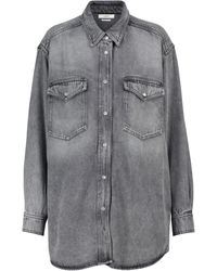 Étoile Isabel Marant Tania Denim Shirt - Gray