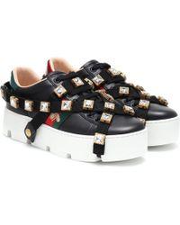 Gucci Sneakers New Ace aus Leder - Schwarz