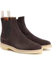 Common Projects Suede Chelsea Boots - Brown