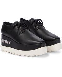 Stella McCartney Zapatos Derby Elyse con plataforma - Negro