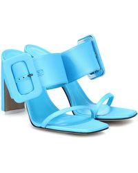 The Attico Naomi Satin Sandals - Blue