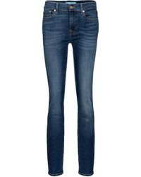 7 For All Mankind Roxanne Mid-rise Slim Jeans - Blue