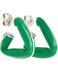 Bottega Veneta Boucles d'oreilles Triangle - Vert
