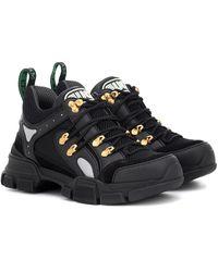Gucci Flashtrek Leather Sneakers - Multicolor
