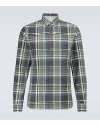 Brunello Cucinelli Kariertes Hemd aus Baumwollflanell - Grün