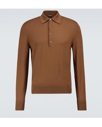 Tom Ford - Wool Long-sleeved Polo Shirt - Lyst