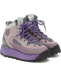 Acne Studios Trekking Platform Sneakers - Purple