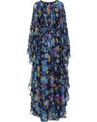 Etro Floral Silk-blend Gown - Blue