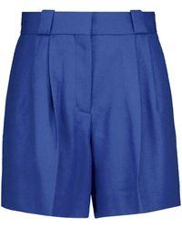 Blazé Milano Palmira Felted-wool Shorts - Blue