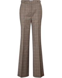 Gabriela Hearst Vesta Checked Wide-leg Virgin Wool Pants - Multicolour