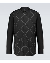 Comme des Garçons Besticktes Hemd aus Baumwolle - Schwarz