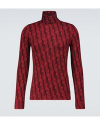 Prada Jersey de lana virgen con cuello alto - Rojo