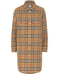 Burberry Check Cotton Shirt - Natural