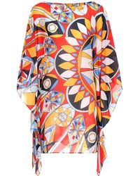 Tory Burch - Kaleidoscope Cotton And Silk Kaftan - Lyst