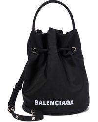 Balenciaga Bucket-Bag Wheel Small - Schwarz