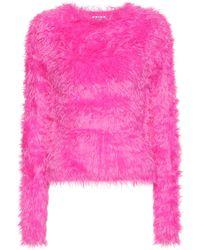 Balenciaga Pullover aus Faux Fur - Pink