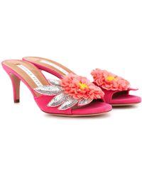 Veronica Beard Nev Fine Embellished Sandals W/ Tags - Pink