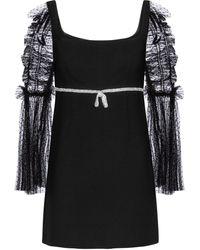 Self-Portrait Embellished Minidress - Black