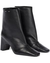 Coperni Bridge Leather Ankle Boots - Black