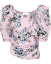 Preen By Thornton Bregazzi Guendelina Pouf-sleeve Top - Pink