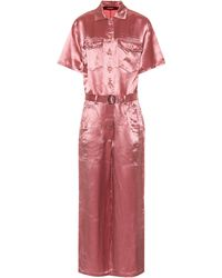 Sies Marjan Neve Satin Pocket Jumpsuit - Pink