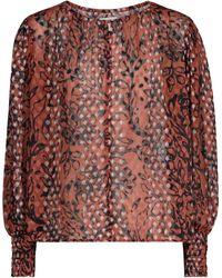 Velvet Bluse Ferris aus Brokat - Mehrfarbig