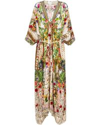 Camilla Printed Cotton Kaftan - Green