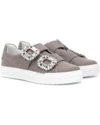Roger Vivier - Karierte Sneakers Sneaky Viv' - Lyst