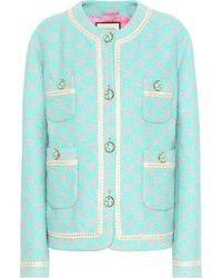 Gucci GG Tweed Jacket - Blue