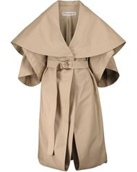 JW Anderson Belted Cotton Trench Coat - Natural