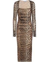 Ganni Leopard-print Maxi Dress - Multicolour